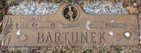 BARTUNEK, THOMAS D. - Yankton County, South Dakota   THOMAS D. BARTUNEK - South Dakota Gravestone Photos
