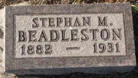 BEADLESTON, STEPHAN M. - Yankton County, South Dakota   STEPHAN M. BEADLESTON - South Dakota Gravestone Photos