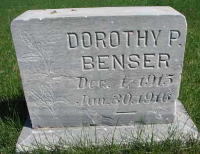 BENSER, DOROTHY P. - Yankton County, South Dakota   DOROTHY P. BENSER - South Dakota Gravestone Photos