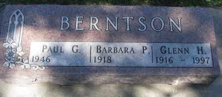 BERNTSON, BARBARA P. - Yankton County, South Dakota | BARBARA P. BERNTSON - South Dakota Gravestone Photos