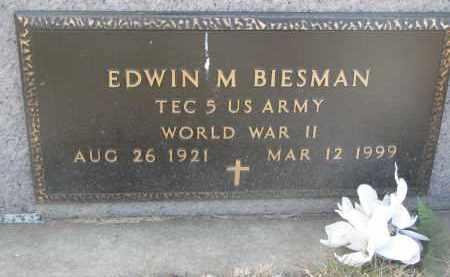 BIESMAN, EDWIN N. (WW II) - Yankton County, South Dakota | EDWIN N. (WW II) BIESMAN - South Dakota Gravestone Photos