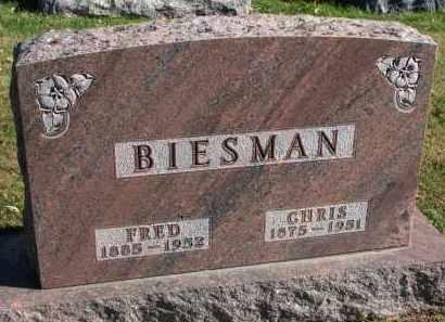 BIESMAN, FRED - Yankton County, South Dakota | FRED BIESMAN - South Dakota Gravestone Photos
