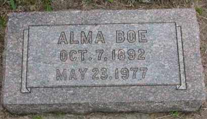BOE, ALMA - Yankton County, South Dakota | ALMA BOE - South Dakota Gravestone Photos