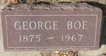 BOE, GEORGE - Yankton County, South Dakota | GEORGE BOE - South Dakota Gravestone Photos