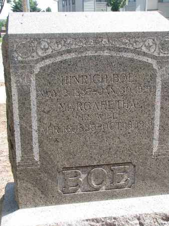 BOE, HINRICH - Yankton County, South Dakota   HINRICH BOE - South Dakota Gravestone Photos