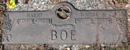 BOE, HARRY - Yankton County, South Dakota | HARRY BOE - South Dakota Gravestone Photos