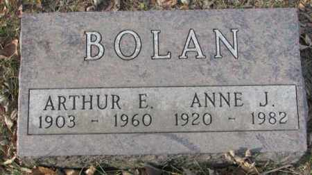 BOLAN, ARTHUR E. - Yankton County, South Dakota | ARTHUR E. BOLAN - South Dakota Gravestone Photos