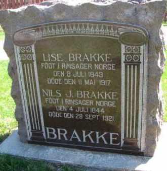 BRAKKE, LISE - Yankton County, South Dakota | LISE BRAKKE - South Dakota Gravestone Photos