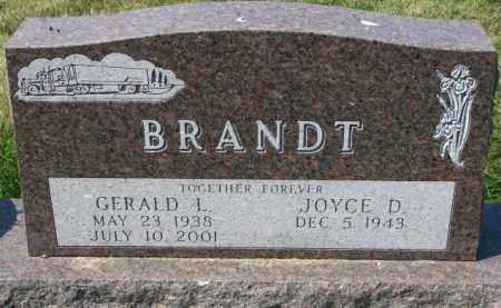 BRANDT, JOYCE D. - Yankton County, South Dakota   JOYCE D. BRANDT - South Dakota Gravestone Photos