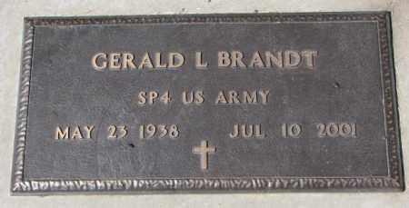 BRANDT, GERALD L. (MILITARY) - Yankton County, South Dakota   GERALD L. (MILITARY) BRANDT - South Dakota Gravestone Photos
