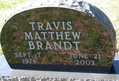 BRANDT, TRAVIS MATTHEW - Yankton County, South Dakota   TRAVIS MATTHEW BRANDT - South Dakota Gravestone Photos