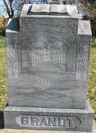 BRANDT, WILLIAM J. - Yankton County, South Dakota   WILLIAM J. BRANDT - South Dakota Gravestone Photos
