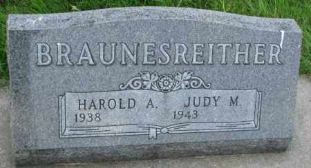 BRAUNESREITHER, HAROLD A. - Yankton County, South Dakota   HAROLD A. BRAUNESREITHER - South Dakota Gravestone Photos