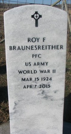 BRAUNESREITHER, ROY F. - Yankton County, South Dakota   ROY F. BRAUNESREITHER - South Dakota Gravestone Photos