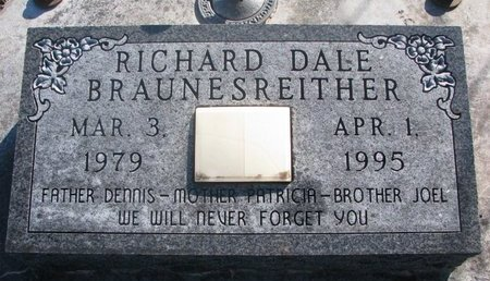 BRAUNESREITHER, RICHARD DALE - Yankton County, South Dakota | RICHARD DALE BRAUNESREITHER - South Dakota Gravestone Photos
