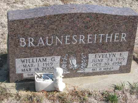 BRAUNESREITHER, WILLIAM G. - Yankton County, South Dakota | WILLIAM G. BRAUNESREITHER - South Dakota Gravestone Photos
