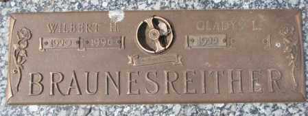 BRAUNESREITHER, GLADYS L. - Yankton County, South Dakota | GLADYS L. BRAUNESREITHER - South Dakota Gravestone Photos