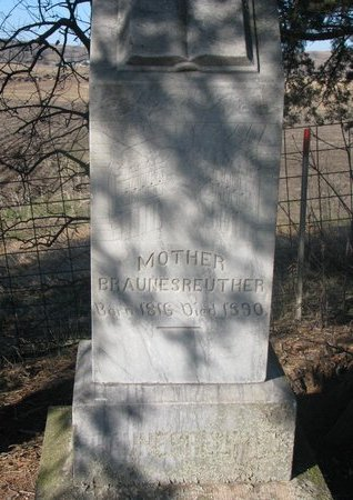 BRAUNESREUTHER, MOTHER - Yankton County, South Dakota   MOTHER BRAUNESREUTHER - South Dakota Gravestone Photos
