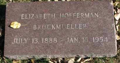 BROCKMUELLER, ELIZABETH - Yankton County, South Dakota | ELIZABETH BROCKMUELLER - South Dakota Gravestone Photos