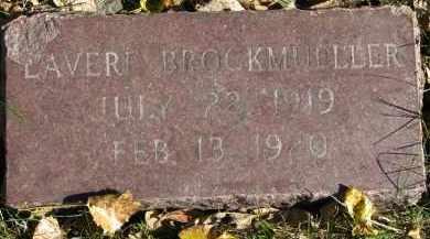 BROCKMUELLER, LAVERE - Yankton County, South Dakota   LAVERE BROCKMUELLER - South Dakota Gravestone Photos
