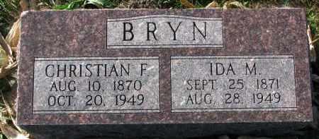 BRYN, IDA M. - Yankton County, South Dakota   IDA M. BRYN - South Dakota Gravestone Photos