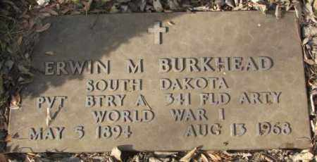 BURKHEAD, ERWIN M. - Yankton County, South Dakota | ERWIN M. BURKHEAD - South Dakota Gravestone Photos