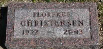 CHRISTENSEN, FLORENCE - Yankton County, South Dakota | FLORENCE CHRISTENSEN - South Dakota Gravestone Photos