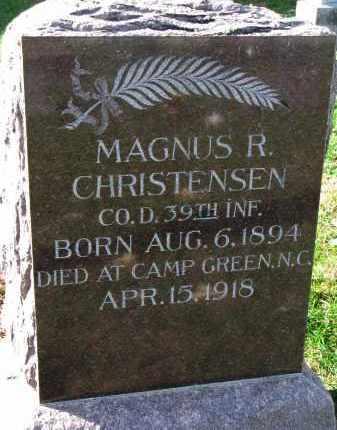 CHRISTENSEN, MAGNUS R. - Yankton County, South Dakota   MAGNUS R. CHRISTENSEN - South Dakota Gravestone Photos