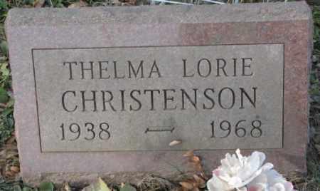 CHRISTENSON, THELMA LORIE - Yankton County, South Dakota | THELMA LORIE CHRISTENSON - South Dakota Gravestone Photos
