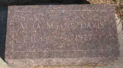 DAVIS, AURA - Yankton County, South Dakota | AURA DAVIS - South Dakota Gravestone Photos