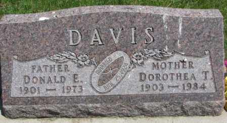 DAVIS, DOROTHEA T. - Yankton County, South Dakota | DOROTHEA T. DAVIS - South Dakota Gravestone Photos