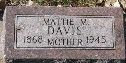 DAVIS, MATTIE M. - Yankton County, South Dakota | MATTIE M. DAVIS - South Dakota Gravestone Photos