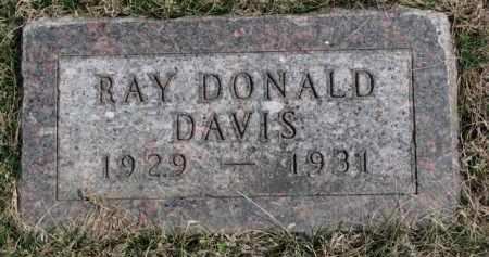 DAVIS, RAY DONALD - Yankton County, South Dakota | RAY DONALD DAVIS - South Dakota Gravestone Photos