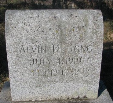DE JONG, ALVIN - Yankton County, South Dakota | ALVIN DE JONG - South Dakota Gravestone Photos