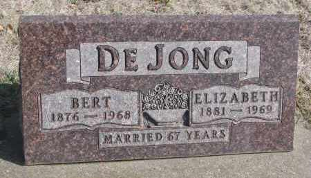DE JONG, BERT - Yankton County, South Dakota | BERT DE JONG - South Dakota Gravestone Photos