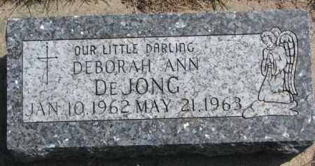 DE JONG, DEBORAH ANN - Yankton County, South Dakota | DEBORAH ANN DE JONG - South Dakota Gravestone Photos