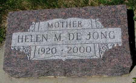 DE JONG, HELEN M. - Yankton County, South Dakota   HELEN M. DE JONG - South Dakota Gravestone Photos