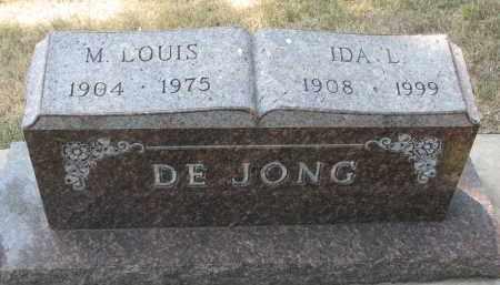 DEJONG, IDA L. - Yankton County, South Dakota | IDA L. DEJONG - South Dakota Gravestone Photos