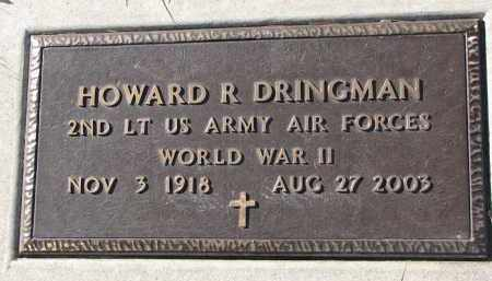 DRINGMAN, HOWARD R. - Yankton County, South Dakota | HOWARD R. DRINGMAN - South Dakota Gravestone Photos