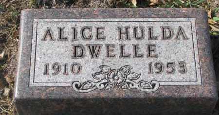 DWELLE, ALICE HULDA - Yankton County, South Dakota | ALICE HULDA DWELLE - South Dakota Gravestone Photos