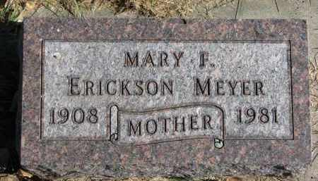 MEYER ERICKSON, MARY F. - Yankton County, South Dakota | MARY F. MEYER ERICKSON - South Dakota Gravestone Photos
