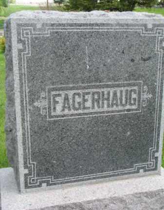 FAGERHAUG, FAMILY STONE - Yankton County, South Dakota   FAMILY STONE FAGERHAUG - South Dakota Gravestone Photos