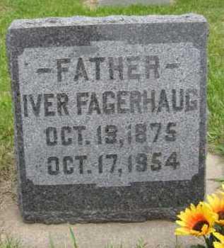 FAGERHAUG, IVER - Yankton County, South Dakota   IVER FAGERHAUG - South Dakota Gravestone Photos