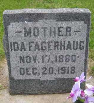FAGERHAUG, IDA - Yankton County, South Dakota | IDA FAGERHAUG - South Dakota Gravestone Photos