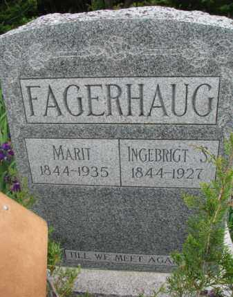 FAGERHAUG, INGEBRIGT S. - Yankton County, South Dakota | INGEBRIGT S. FAGERHAUG - South Dakota Gravestone Photos