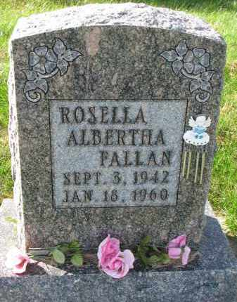 FALLAN, ROSELLA ALBERTHA - Yankton County, South Dakota   ROSELLA ALBERTHA FALLAN - South Dakota Gravestone Photos
