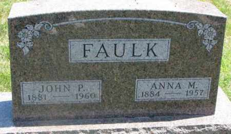 FAULK, ANNA M. - Yankton County, South Dakota | ANNA M. FAULK - South Dakota Gravestone Photos