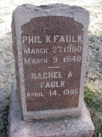 FAULK, PHIL K. - Yankton County, South Dakota | PHIL K. FAULK - South Dakota Gravestone Photos