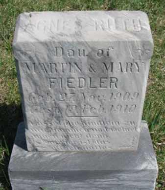 FIEDLER, AGNES RUTH - Yankton County, South Dakota | AGNES RUTH FIEDLER - South Dakota Gravestone Photos