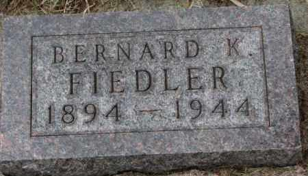 FIEDLER, BERNARD K. - Yankton County, South Dakota | BERNARD K. FIEDLER - South Dakota Gravestone Photos